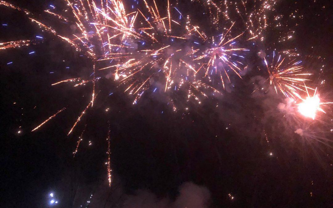 Feuerwerk im Haus am Berg