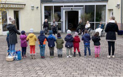 Eiersuche und Besuch der Kita Kids St. Sebastian